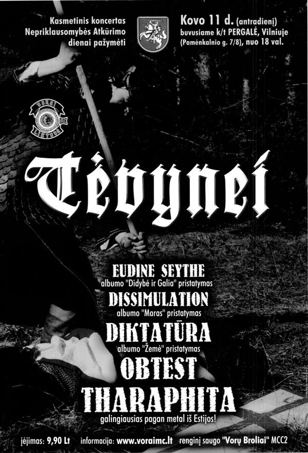 Tėvynei '03 plakatas