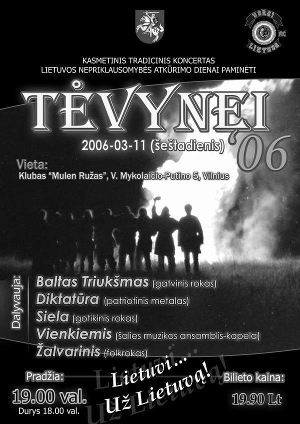 Tėvynei '06 plakatas