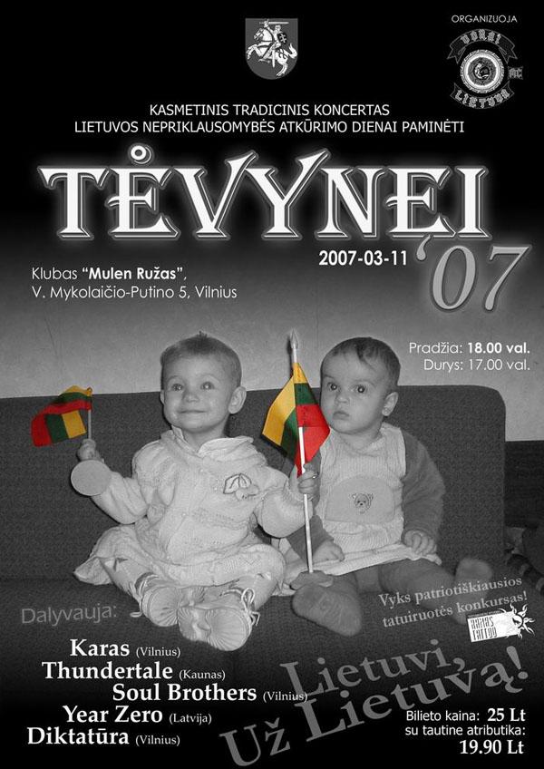 Tėvynei '07 plakatas